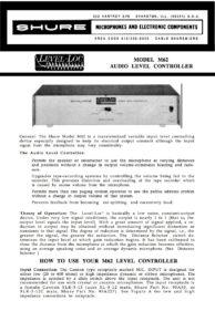 Shure-Level-Loc-Handbuch