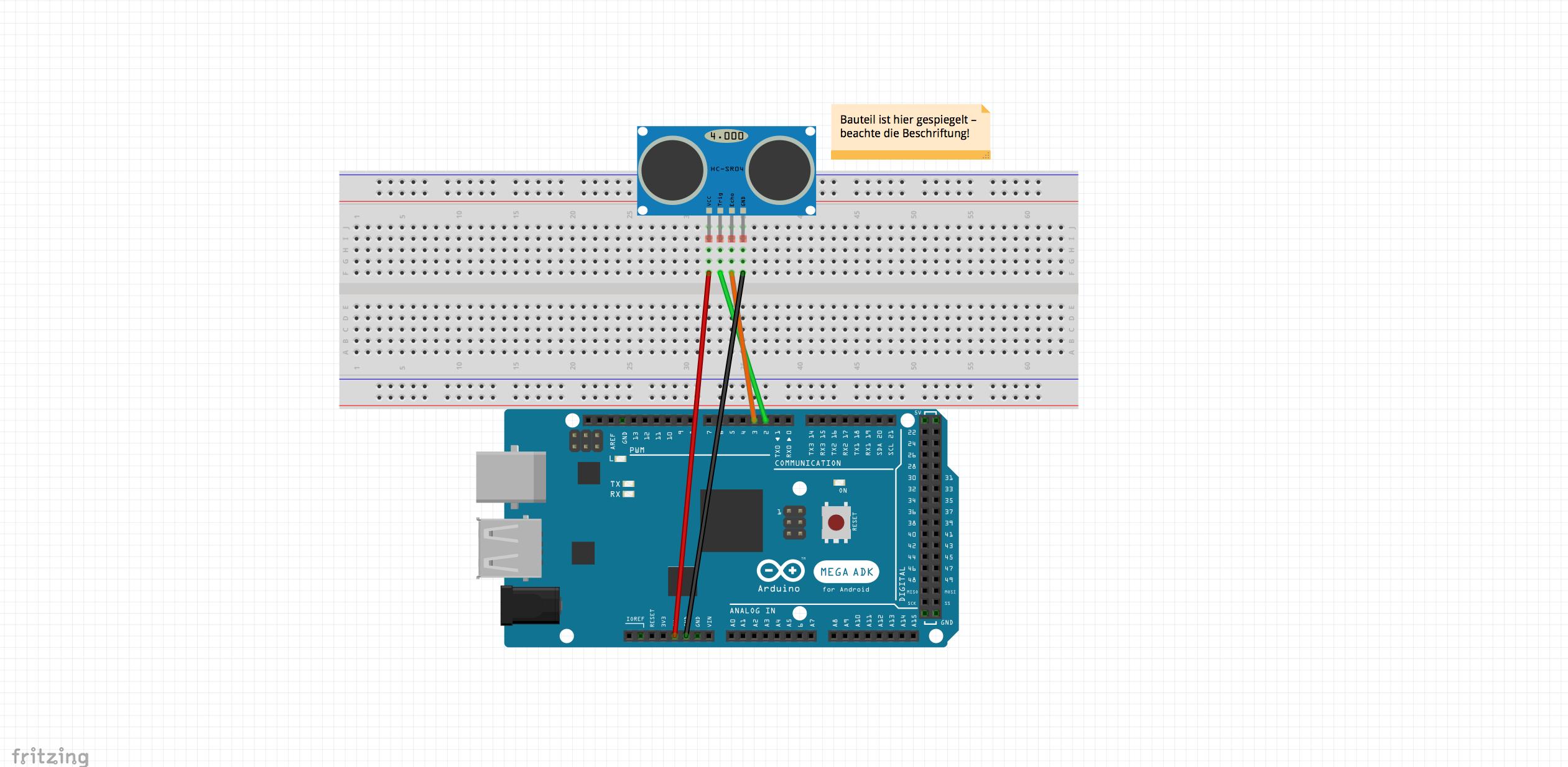Ultraschall sensor hc sr mit arduino tutorial